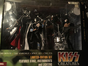 Mcfarlane, music, figure, KISS, BOXSET with lights, silver .999 Edmonton Edmonton Area image 1