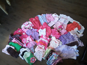 Large lot baby girl 0-3 months clothing