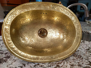 HAND MADE BRASS SINK FROM MOROCCO