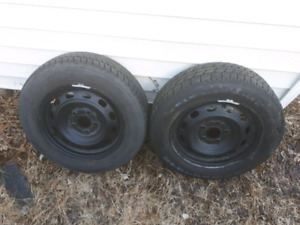2× 5 bolt civic wheels and tires