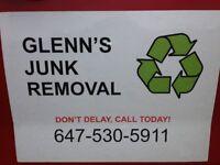 GLENN'S JUNK REMOVAL – CALL OR TEXT GLENN @ 647-530-5911