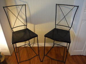 Gorgeous Wrought Iron Stools Mint Condition