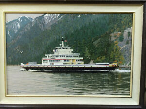 ORIGINAL PAINTING 30 YEARS OLD B.C.FERRY