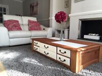 Coffee Table With Storage Draws (furniture/shabby Chic/bespoke)
