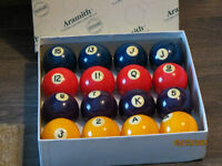 BELGIAN ARAMITH POKER POOL BILLIARD BALLS