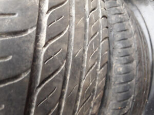 """4x100 steel 14"""" rims with all season tires"""