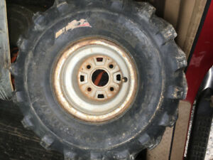 "8x8 3+5 4x110 atv rims with 22"" dirt devil tire"