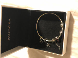 PANDORA BANGLE  with 5 charms for SALE!!!