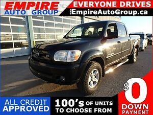 2005 TOYOTA TUNDRA LIMITED * 4DR DOUBLE CAB * 4WD * LEATHER * PO