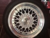 Alloy Wheels and Tyres.