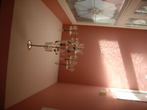 BEAUTIFUL TIFFANY, CRYSTAL ,CHANDELIER HANGING LAMPS FOR SALE Go
