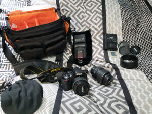 Nikon D5100 with accessories