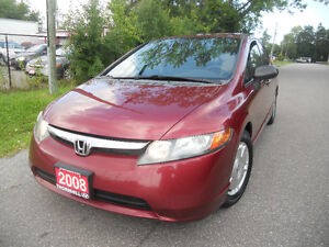 2008 Honda Civic Sedan 175 kms Loaded $4495