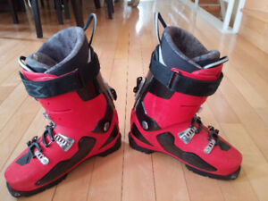 Garmont touring / backcountry ski boots, k2 combing skins