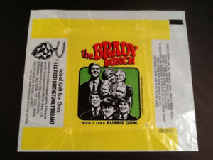 The Brady Bunch 1969 Bubble Gum Wrapper