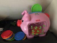 Fisher price money bank piggy