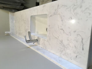 Marble Bathroom Counter $ Sink - 6 ft can be cut!