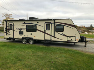 2014 Travel trailer, slide, bunks, front queen.