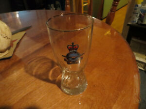 1950's Air Force Beer Glass Gold inlay