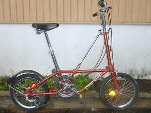 vélo pliable norco fabriquer par DAHON en Californie
