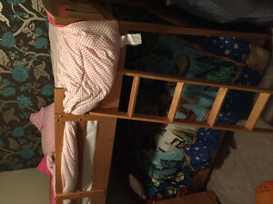 Bunk bed and matching dresser