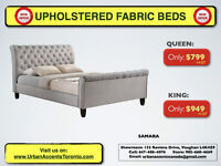 UPHOLSTERED BEDS ON SALE IN TORONTO ALL SIZES ALSO CUSTOM MADE