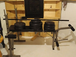 Weights with Workout Bench