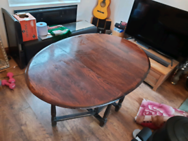 Oval folding dining table vintage