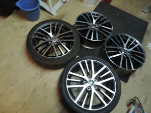 18'' Black & Gun Metal grey alloy rims Mitsubishi lancer