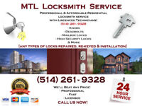 Serrurier 24 Heures /  Emergency Locksmith 24/7