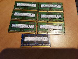 mémoire portable 4gb et 2gb pc3, Laptop