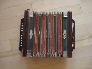 Vintage Diatonic Button Accordion for parts or repair