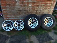 Mitsubishi L200 alloys x4 and two tyres