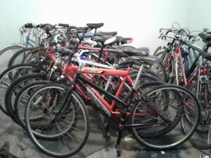 nous débarrassons notre entrepôt;vélo prêt  à partir de 50 $!!!