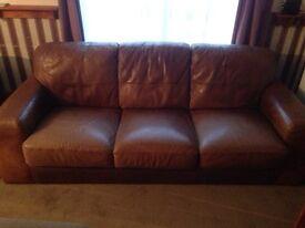 3 seater leather italian sofa
