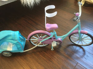 Adorable doll bike with trailer