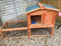 Guinea pig or rabbit hutch