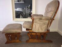 Kub Glider Chair and Stool
