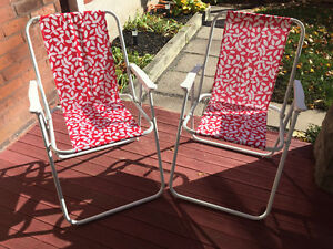 Two lawn chairs for sale