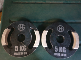 x2 Olympic free weight plates 5kg