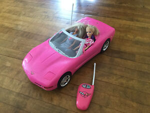 Teleguided Barbie car - Auto de Barbie télé-guidée