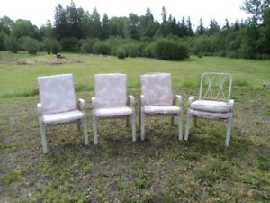 Patio chairs set of 4 with matching  cushions