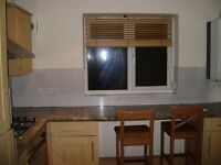 Spacious double room for single professional. 30 sec from tube. 1 week deposit. internet. No fees
