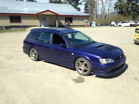 Parting out JDM 98 Legacy Wagon GT-B Twin Turbo 5spd Manual