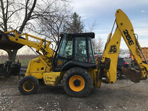 JCB 215s 4x4 LOADER BACKHOE CLAM FRONT BUCKET, DELIVERY AVAIL