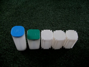 5 Silver coin holder tubes