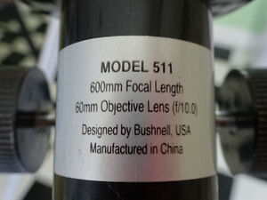 Telescope by Bushnell, USA with tripod and instructions Cornwall Ontario image 3