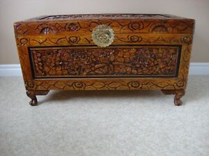 Beautiful Chinese Carved Camphor Chest