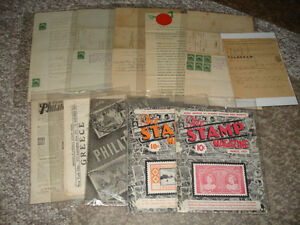 Pre 1900 Real Estate Docs and Stamp Magazines-1930's