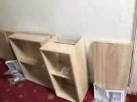 Oak venered 300mm floor standing unit & 500mm wall hung vanity unit***Brand new and boxed***